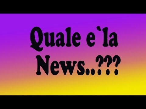 Novita'... cosa sto facendo in Italia??