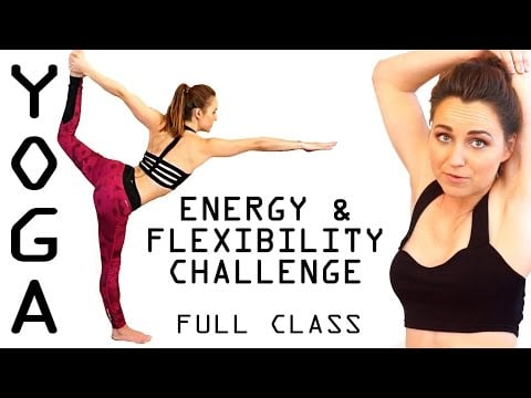 Yoga Workout for Energy & Flexibility Stretch Challenge – 1 Hour Yoga Class
