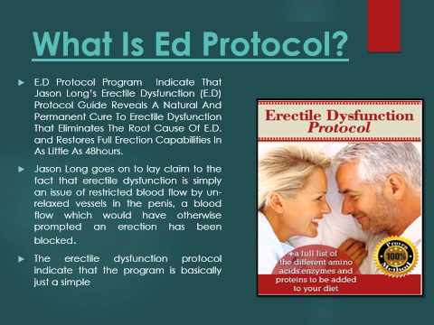 ED Protocol:Ways to Help Erectile Dysfunction