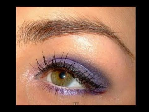 Violet eyes Make up tutorial for Green eyes